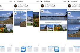 nouvelle fonctionnalité pour les posts mult-photo en test chez Facebook