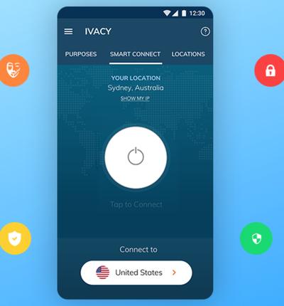 screenshot du vpn Ivacy
