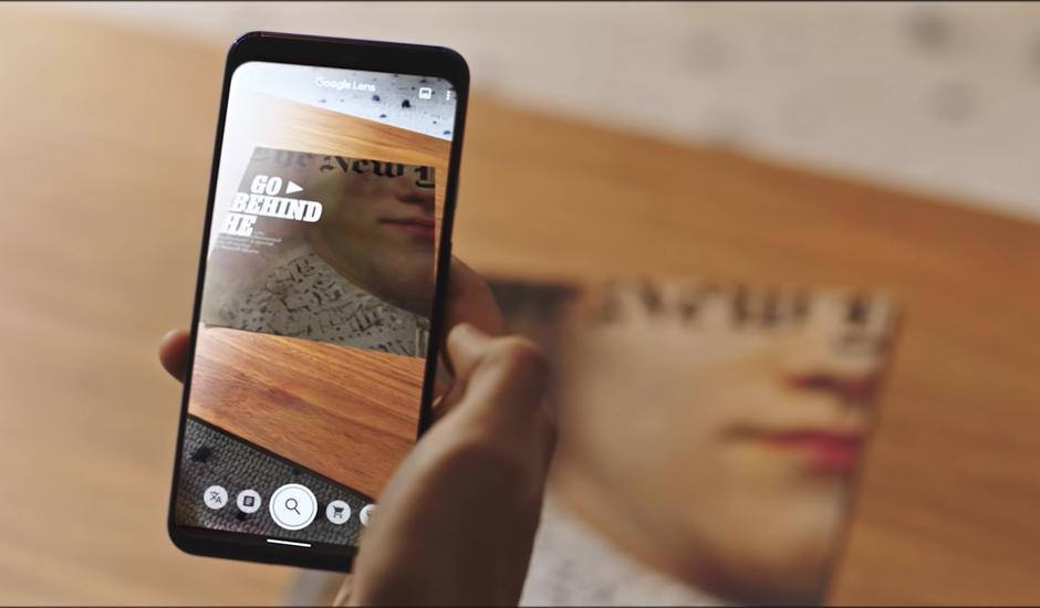 Demonstration de l'expérience du New York Times Magazine avec Google Lens