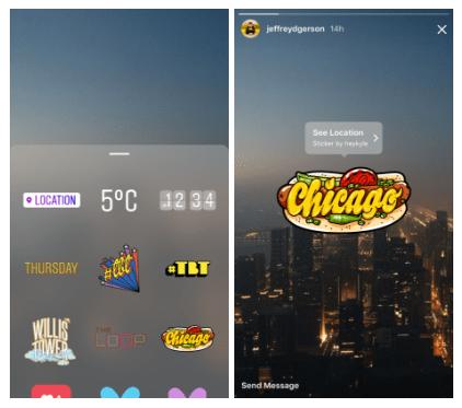 instagram stories : geostickers