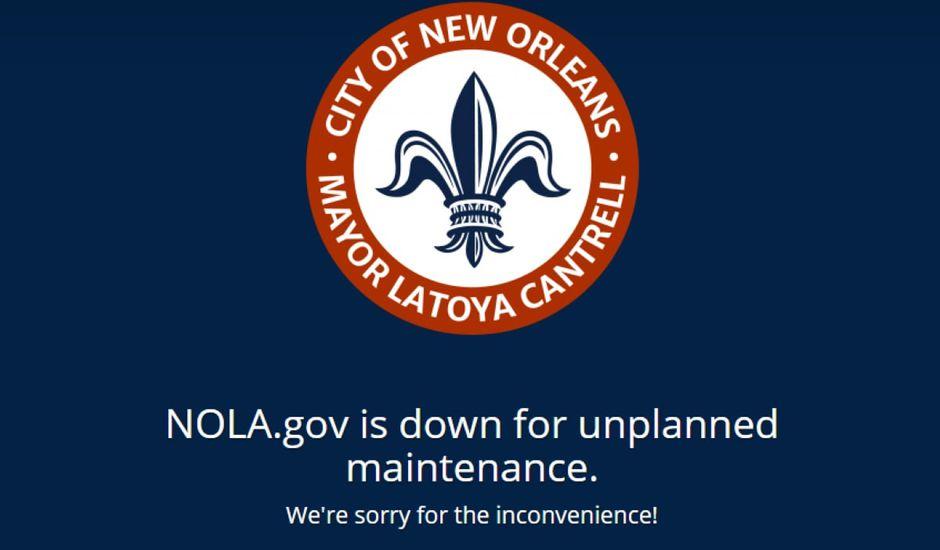 Page du site de La Nouvelle-Orléans