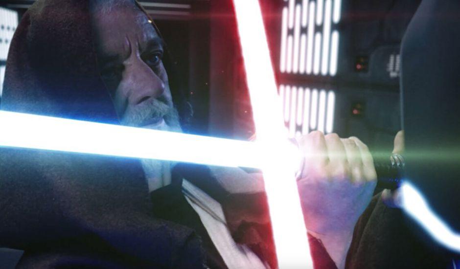 duel remastérisé entre dark vador et obi-wan star wars épisode 4