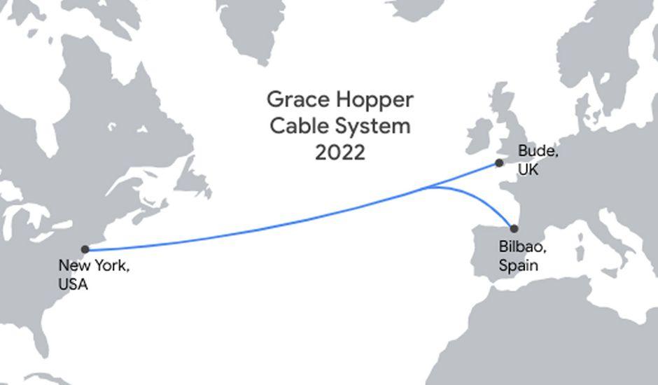 Schéma du câble Grace Hopper de Google.