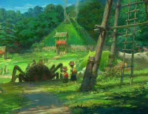 Concept art du Studio Ghibli pour son parc d'attractions