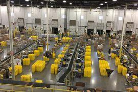 aperçu d'un entrepôt Amazon