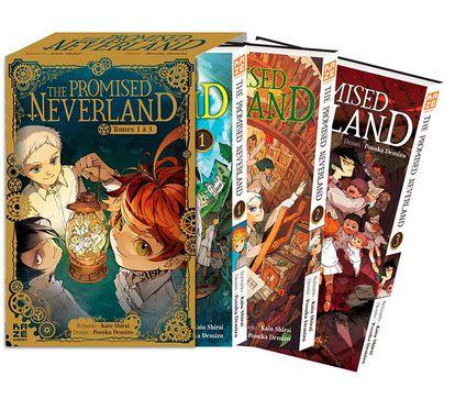 Le coffret des trois premiers tomes de The Promised Neverland