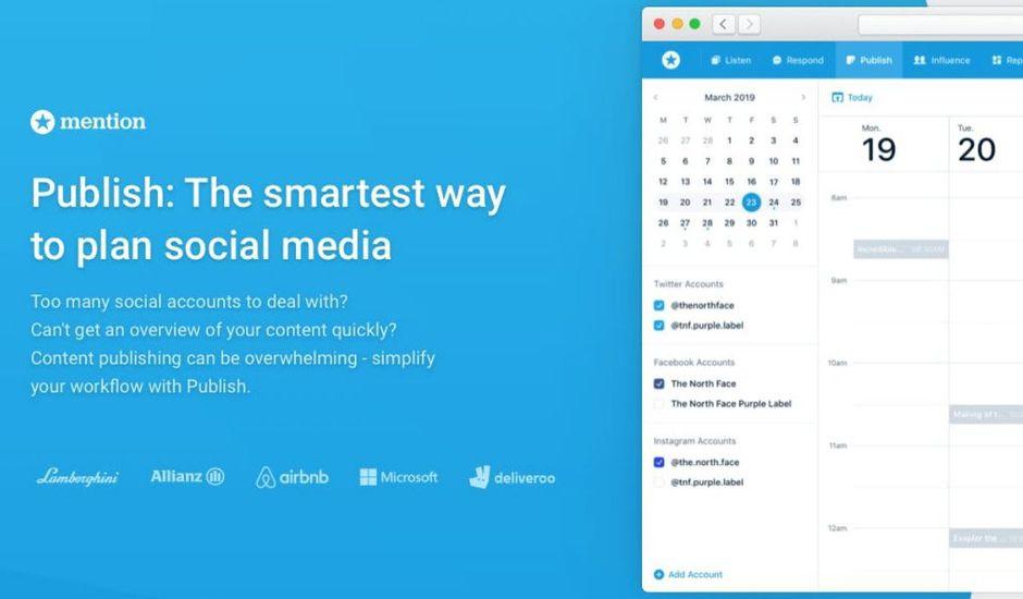 Mention outil publier réseaux sociaux