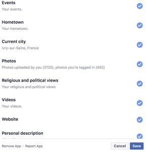 Facebook permet la suppression d'application en masse