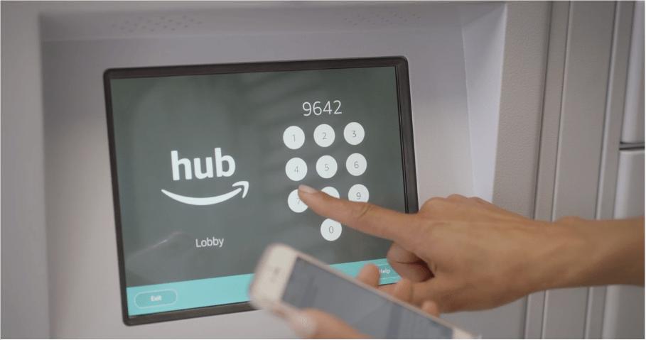 Amazon Hub fonctionne avec un code transmis par sms / email