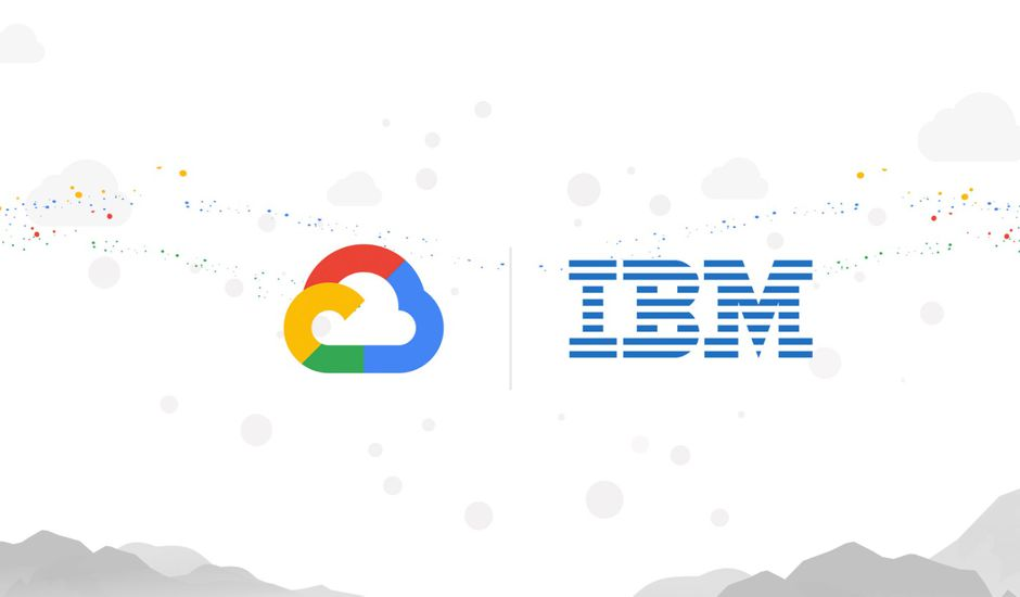 Google cloud s'associe à IBM.
