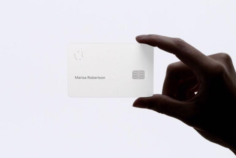 aperçu de la carte physique Apple Card