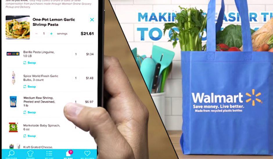 Walmart et BuzzFeed s'associent pour proposer des recettes.