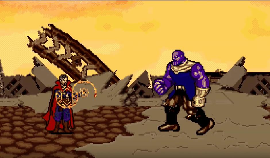 avengers infinity wars 16 bits