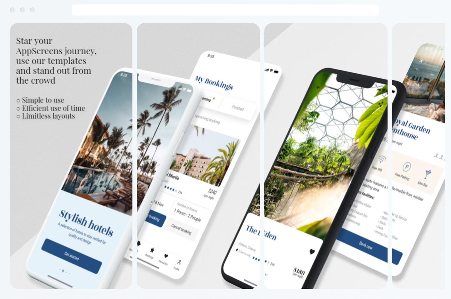exemple screenshoots AppScreens
