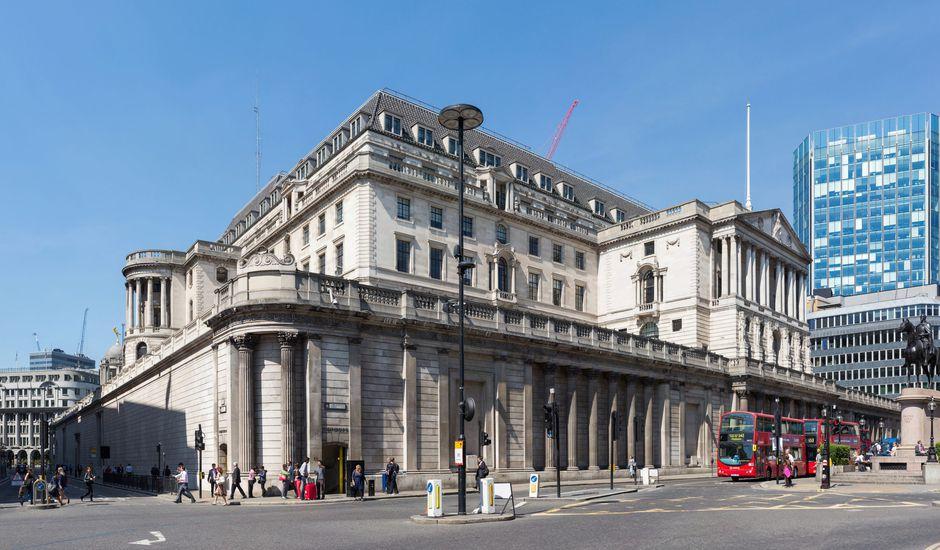 La Banque d'Angleterre, située dans la Cité de Londres