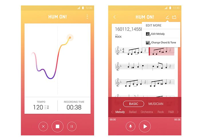 hum on samsung app