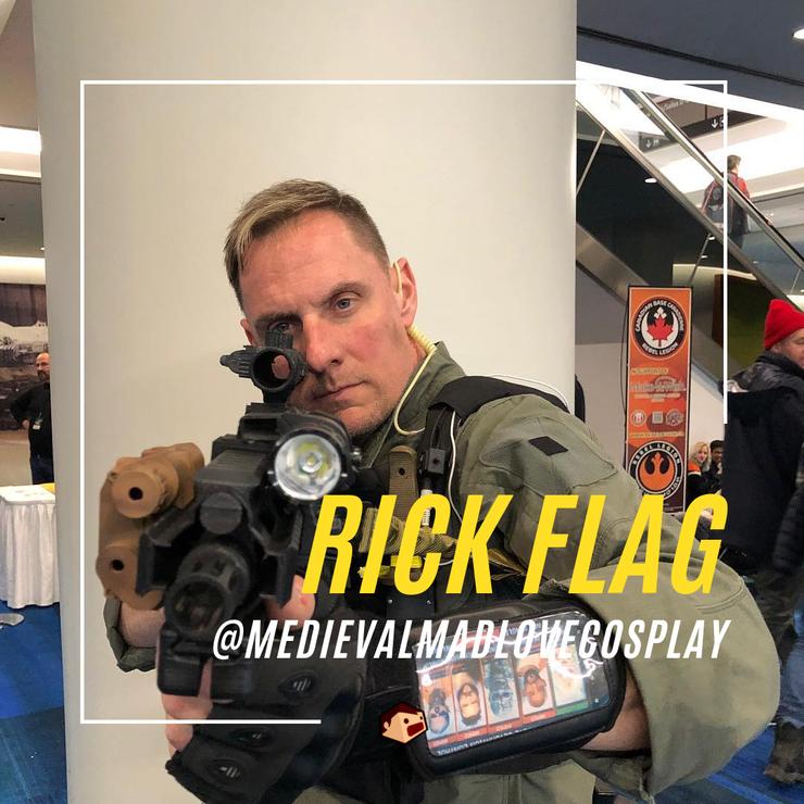 cosplay de rick flag suicide squad