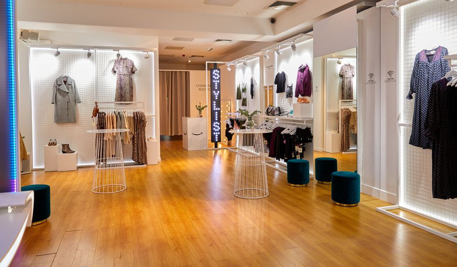 Amazon's pop-up fashion store in London's Baker Street