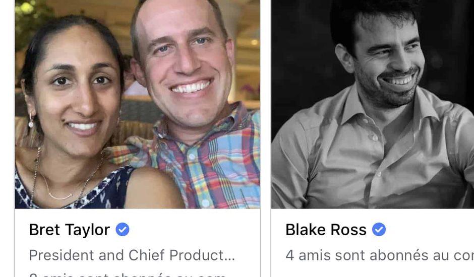 Facebook vous propose de suivre des personnalités ayant un profil vérifié