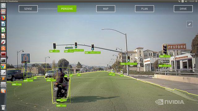 Les capacités de détection des informations relatives à la conduite de la solution de conduite semi-autonome Drive AutoPilot de Nvidia