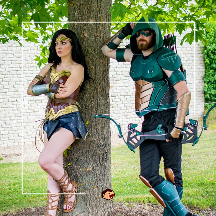 green arrow wonder woman cosplay
