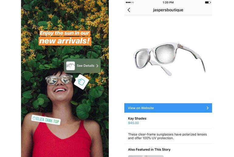 Instagram déploie sa fonctionnalité Shopping aux stories