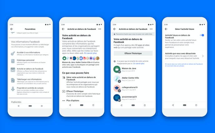Facebook dévoile une nouvelle fonctionnalité — Données personnelles