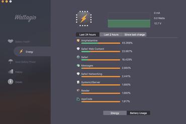 application économiseur de batterie pour macbook Wattagio