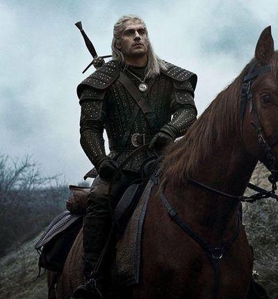 Geralt de Riv et son cheval Ablette dans The Witcher