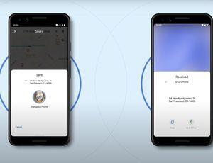 Aperçu de la fonctionnalité Android Nearby Share