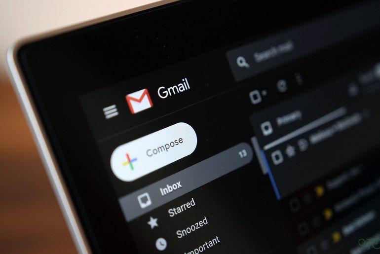 Le dark mode sur Gmail