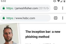 James Fisher phishing chrome