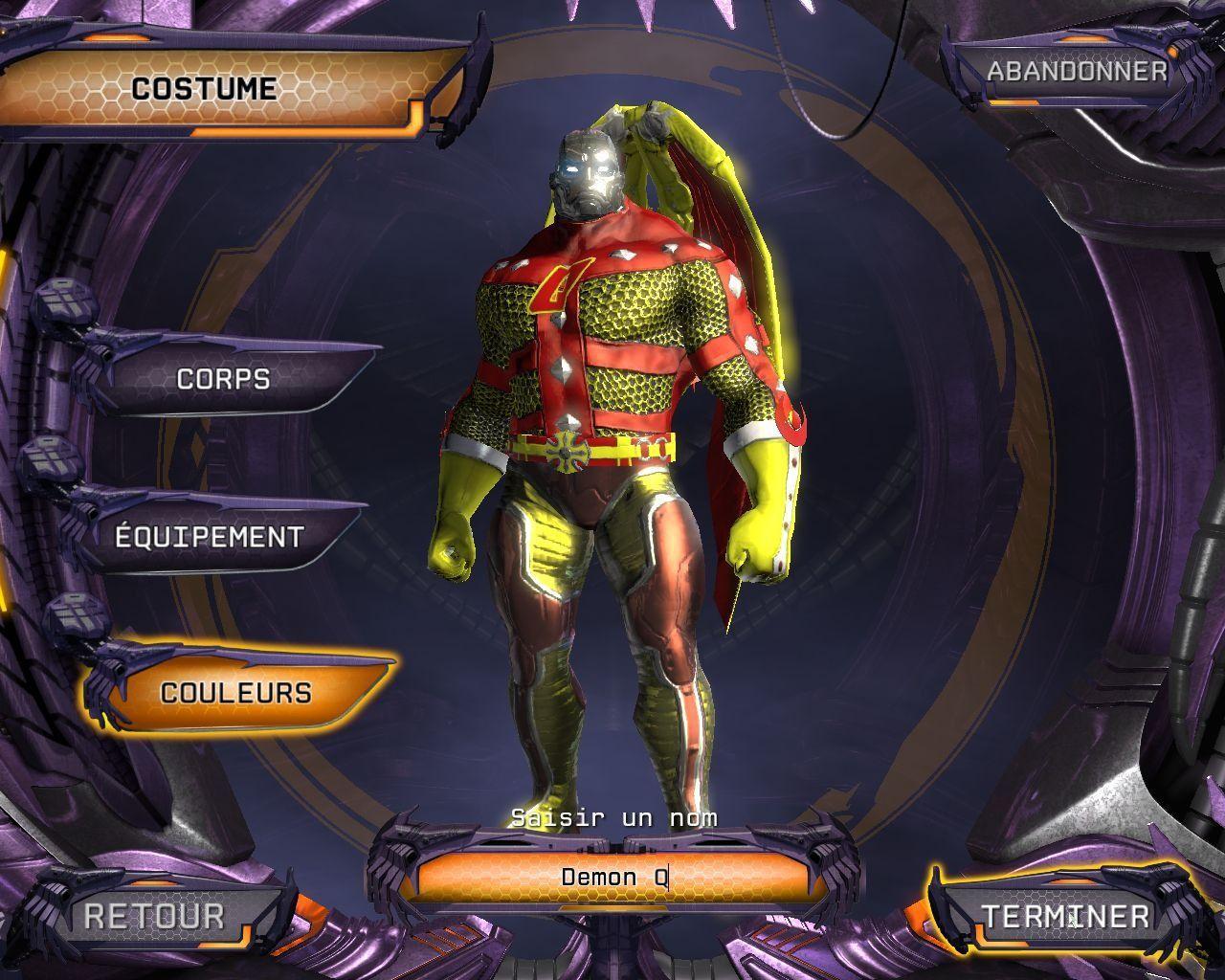 personnaliser costume et personnage dans DC Universe Online