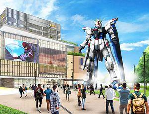 La maquette du mecha Gudam qui sera installé à Shanghai.