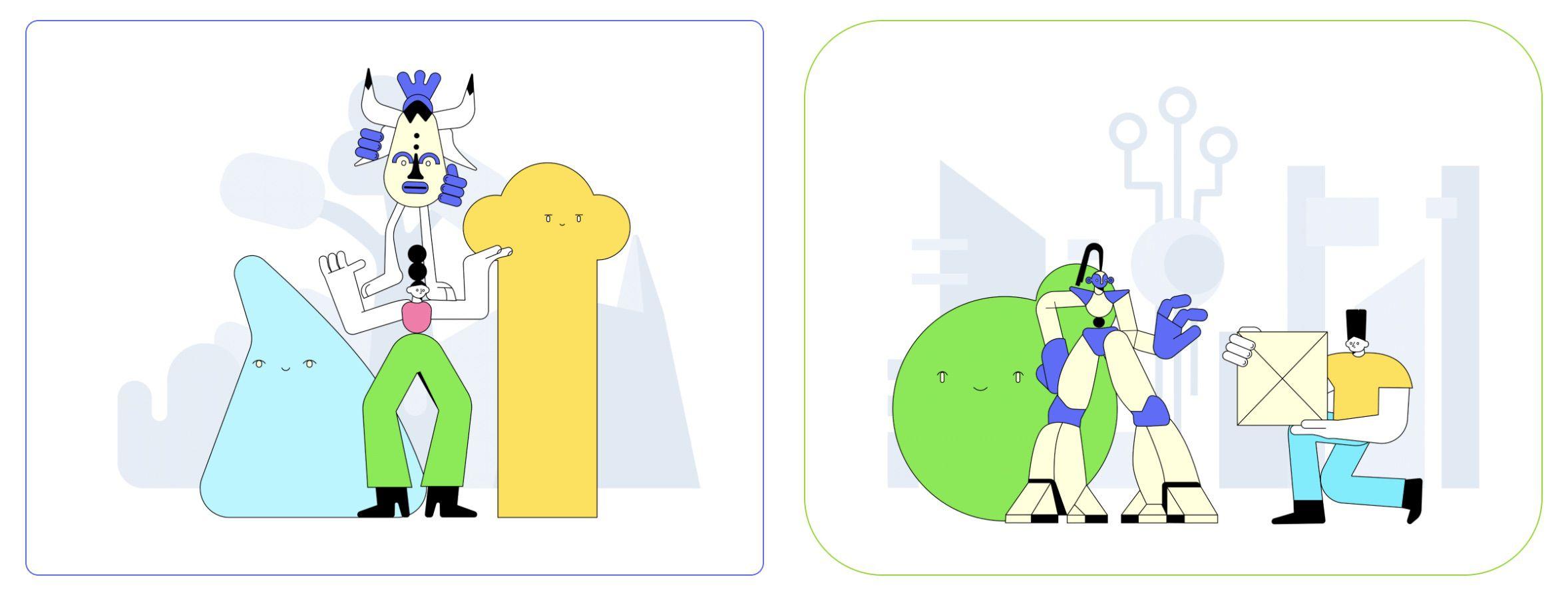 exemples d'illustrations prêtes à l'emploi sur Flow Lava
