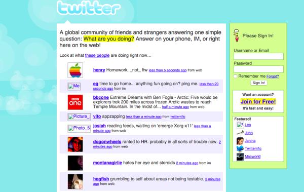 twitter fevrier 2007