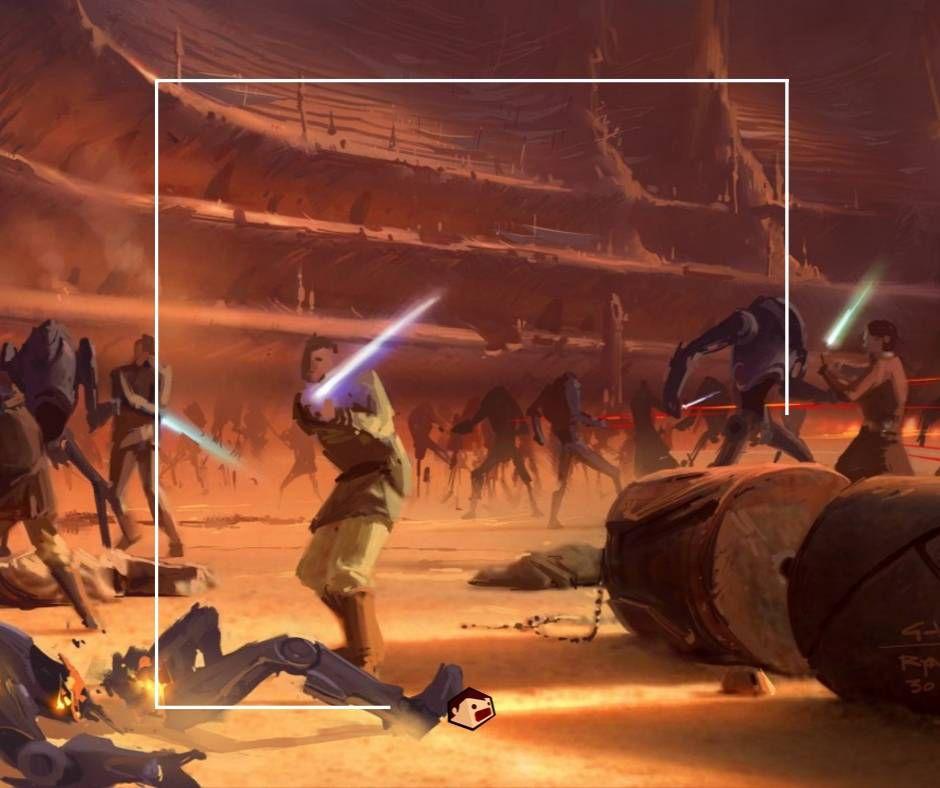 géonosis bataille armée jedi versus droides de combat