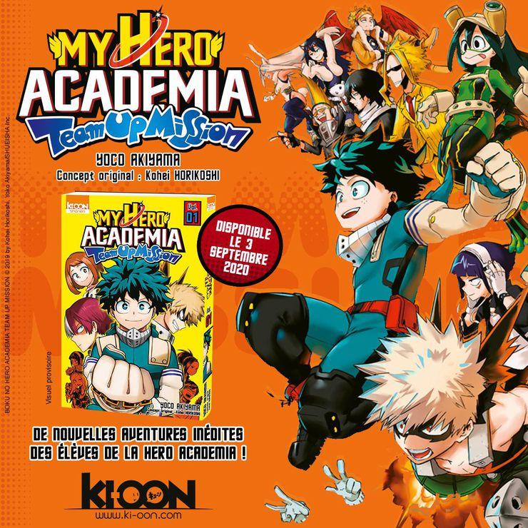 Visuel promotionnel pour My Hero Academia - Team Up Mission