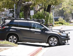 Aperçu d'un véhicule Zoox.