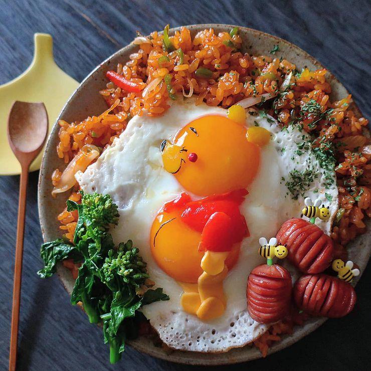 instagram maman cuisine plats trop mignons winnie l'ourson