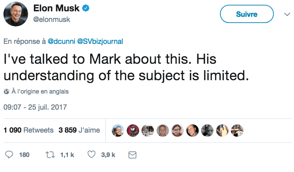Elon Musk Mark Zuckerberg IA