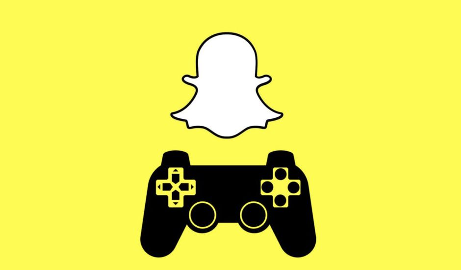 logo de snapchat et console de jeu