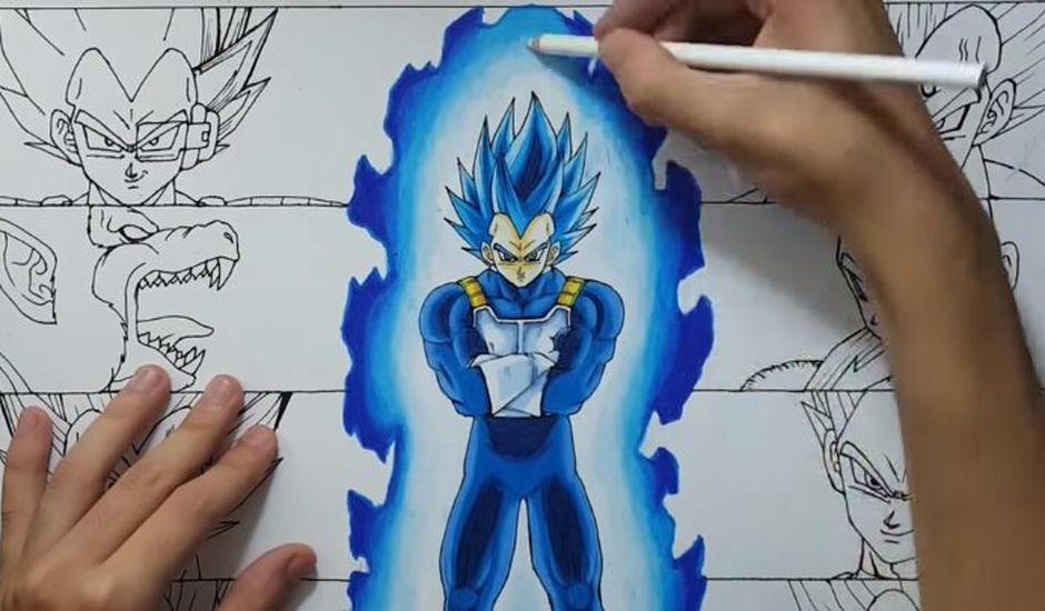 Un Speed Drawing Incroyable De Vegeta