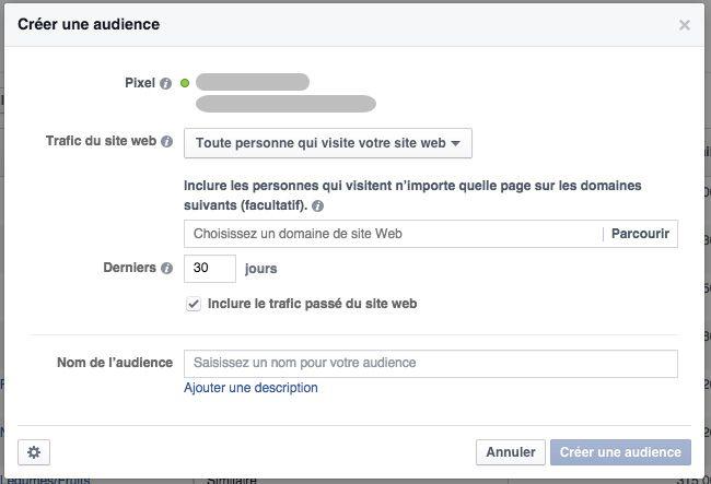 Facebook ads audience personnalisée retargeting