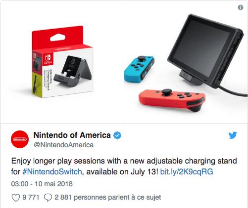 Nintendo annonce le lancement de son dock