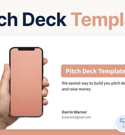 template pitch deck