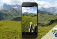 Un smartphone prend un paysage en photo.