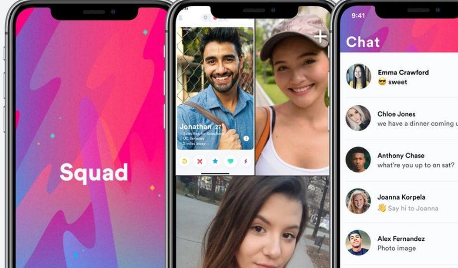 Squad application partage d'écran sur smartphone