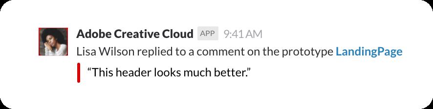Slack Adobe Creative Cloud