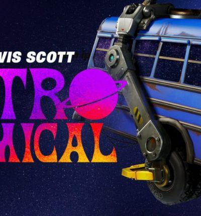 Affiche pour Astronomical, le concert virtuel de Travis Scott sur Fortnite